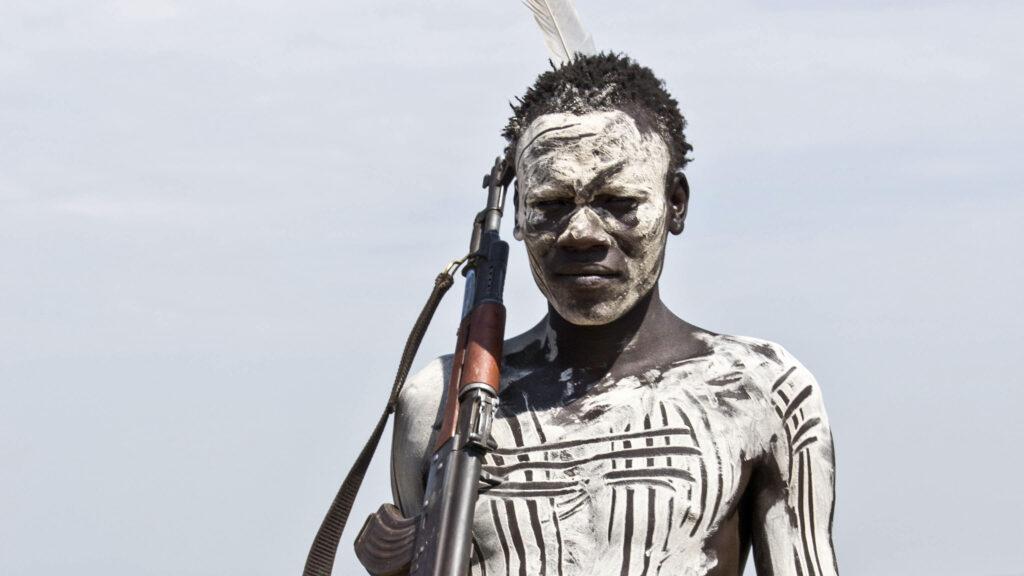 Foto's stammen in zuid Ethiopië