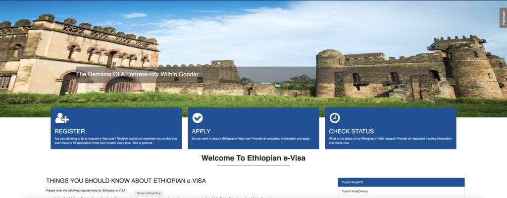 visum voor Ethiopië