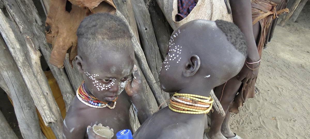 Stammen in zuid Ethiopië